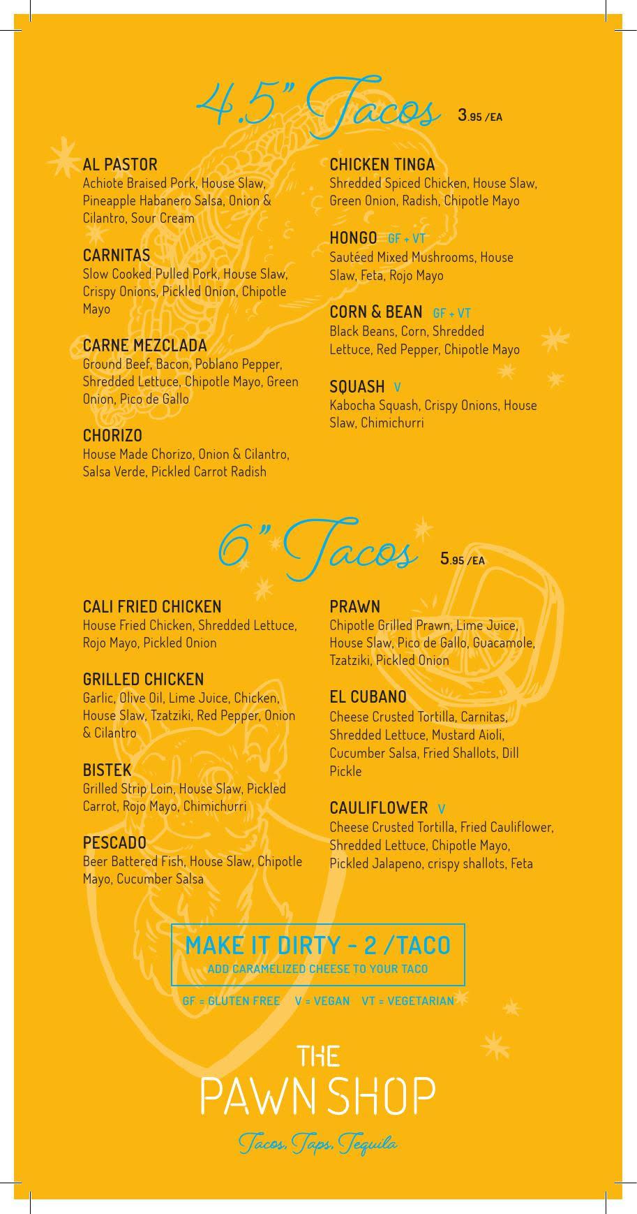 taco menu vancouver